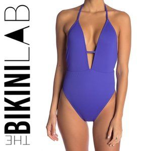 THE BIKINI LAB PLUNGE NECKLINE 1-PIECE